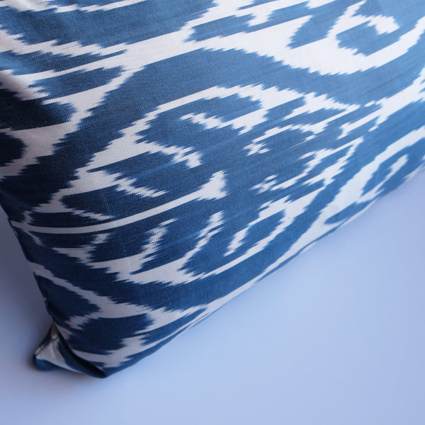 Egil Silk Ikat Lumbar Pillow