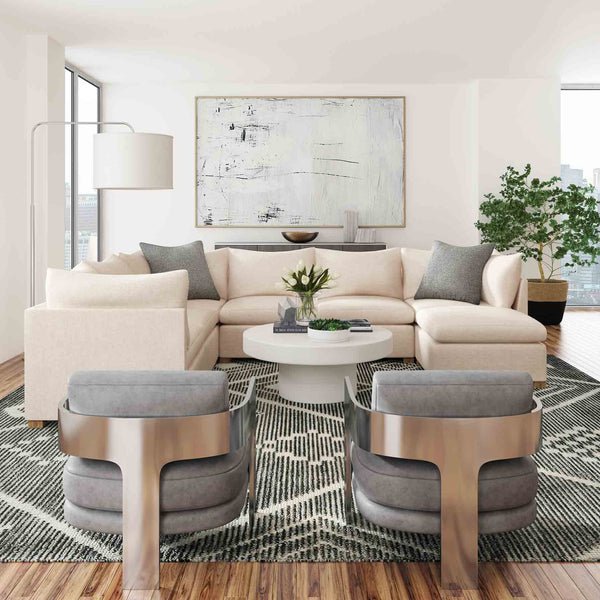 Embrace Gray Diamond Wool Rug