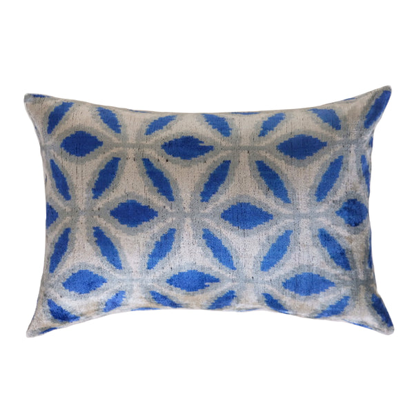 Ezze Silk Ikat Lumbar Pillow