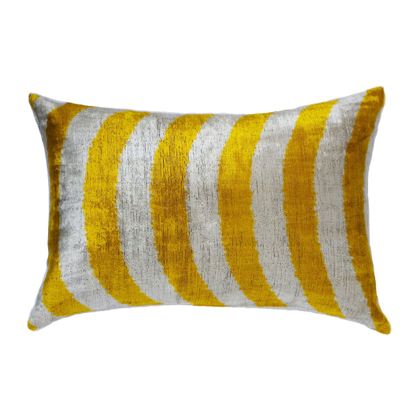 Fenni Silk Ikat Lumbar Pillow