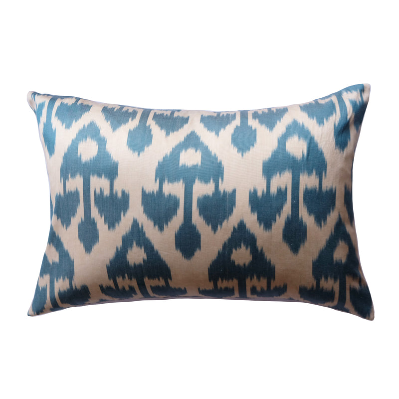 Ispa Silk Ikat Lumbar Pillow