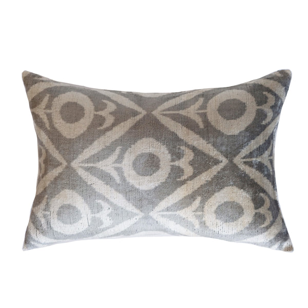 Kiyik Silk Ikat Lumbar Pillow