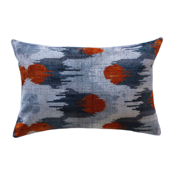 Bala Silk Ikat Lumbar Pillow