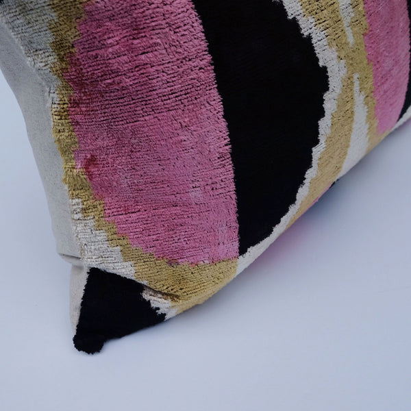 Coco Silk Ikat Lumbar Pillow