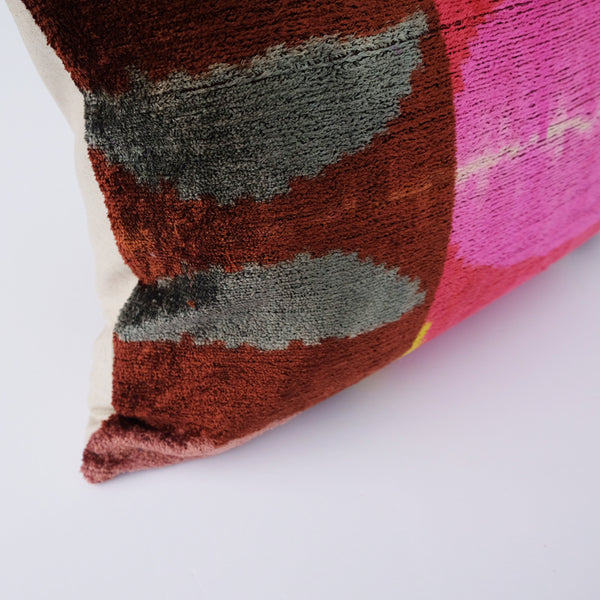Cora Silk Ikat Lumbar Pillow