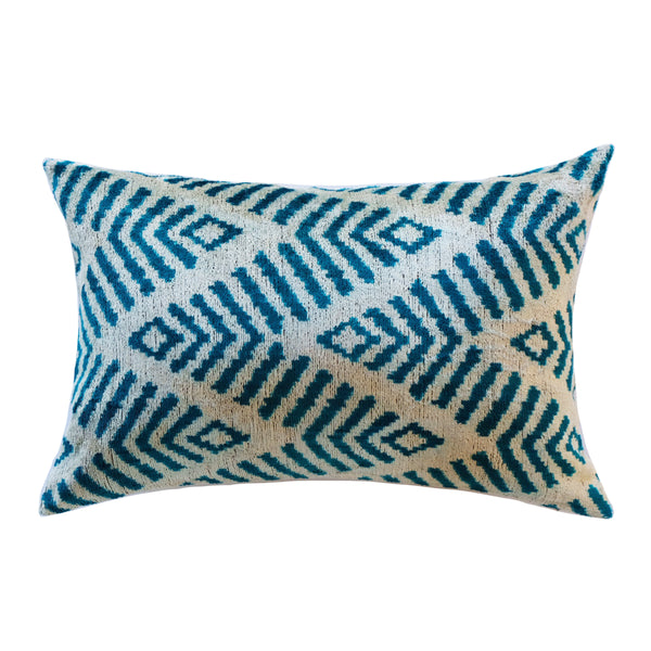 Deni Silk Ikat Lumbar Pillow