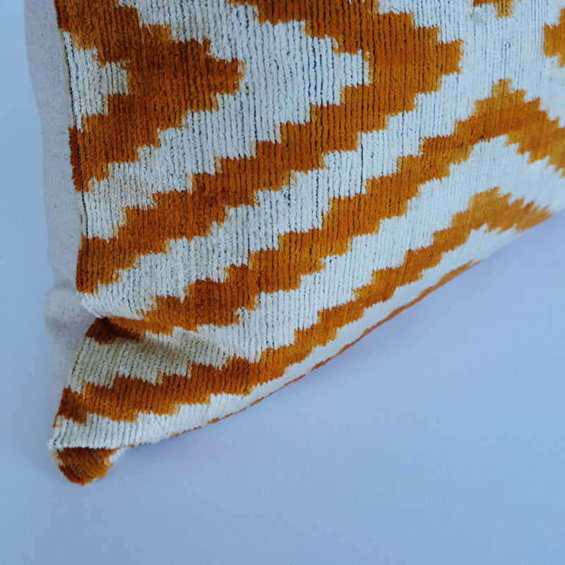 Elma Silk Ikat Lumbar Pillow