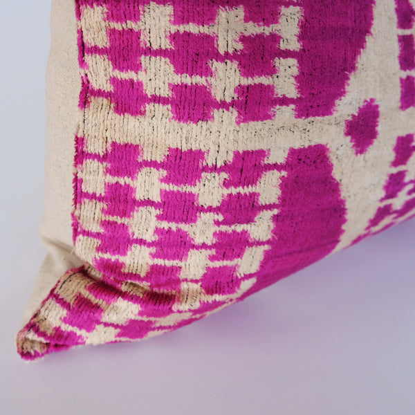 Esme Silk Ikat Lumbar Pillow