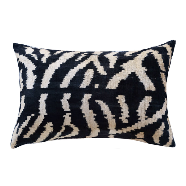 Gazi Silk Ikat Lumbar Pillow
