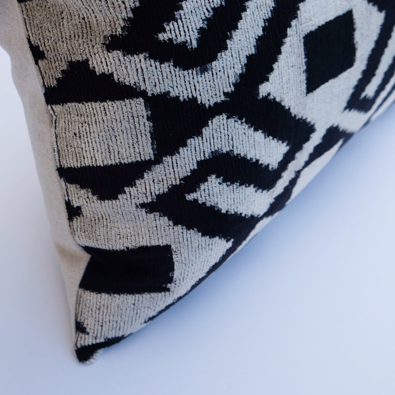 Harp Silk Ikat Lumbar Pillow