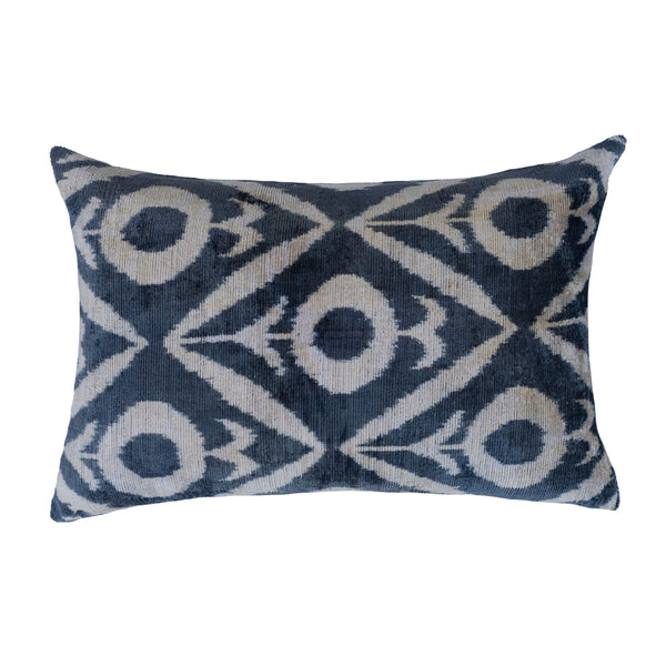 Koza Silk Ikat Lumbar Pillow