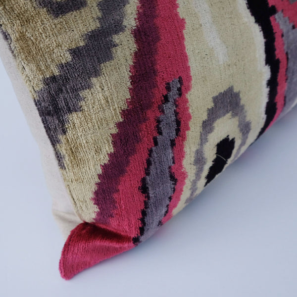Raj Silk Ikat Lumbar Pillow