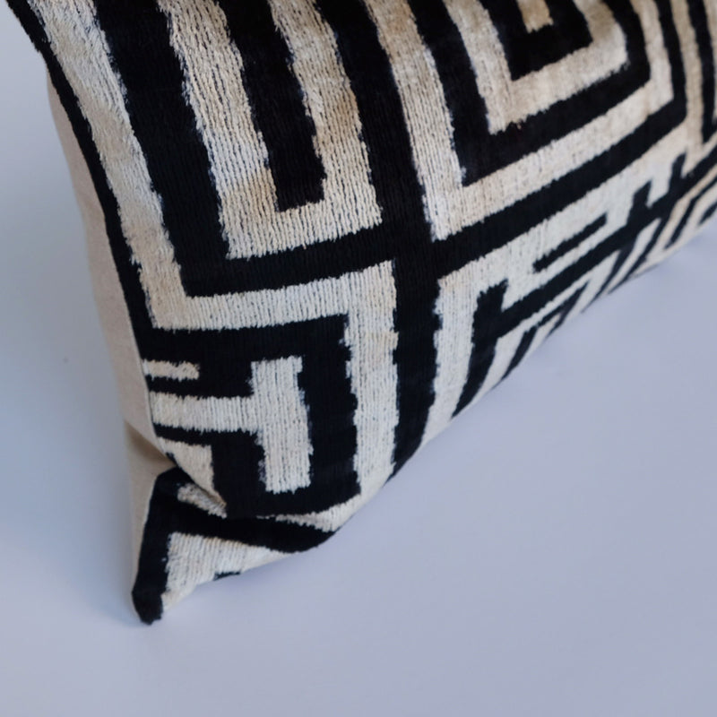 Rize Silk Ikat Lumbar Pillow