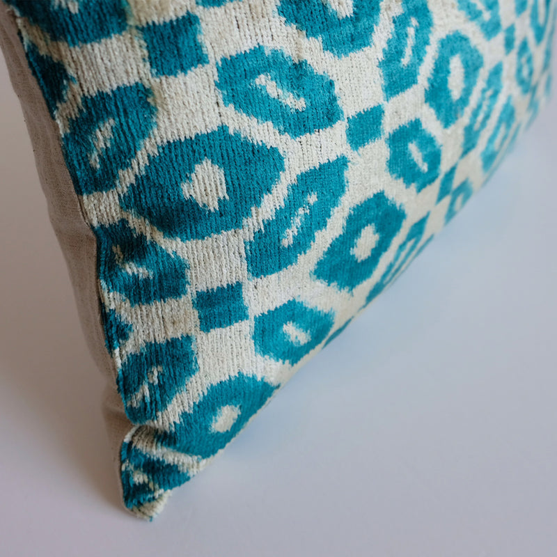 Mali Silk Ikat Lumbar Pillow