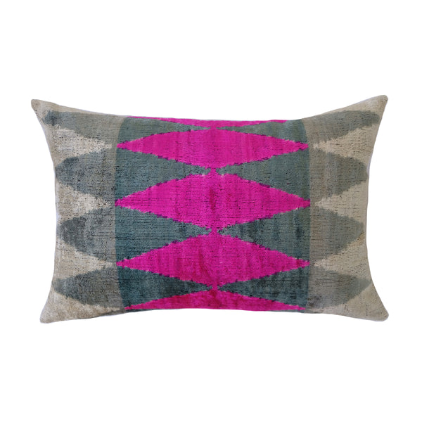 Mia Silk Ikat Lumbar Pillow