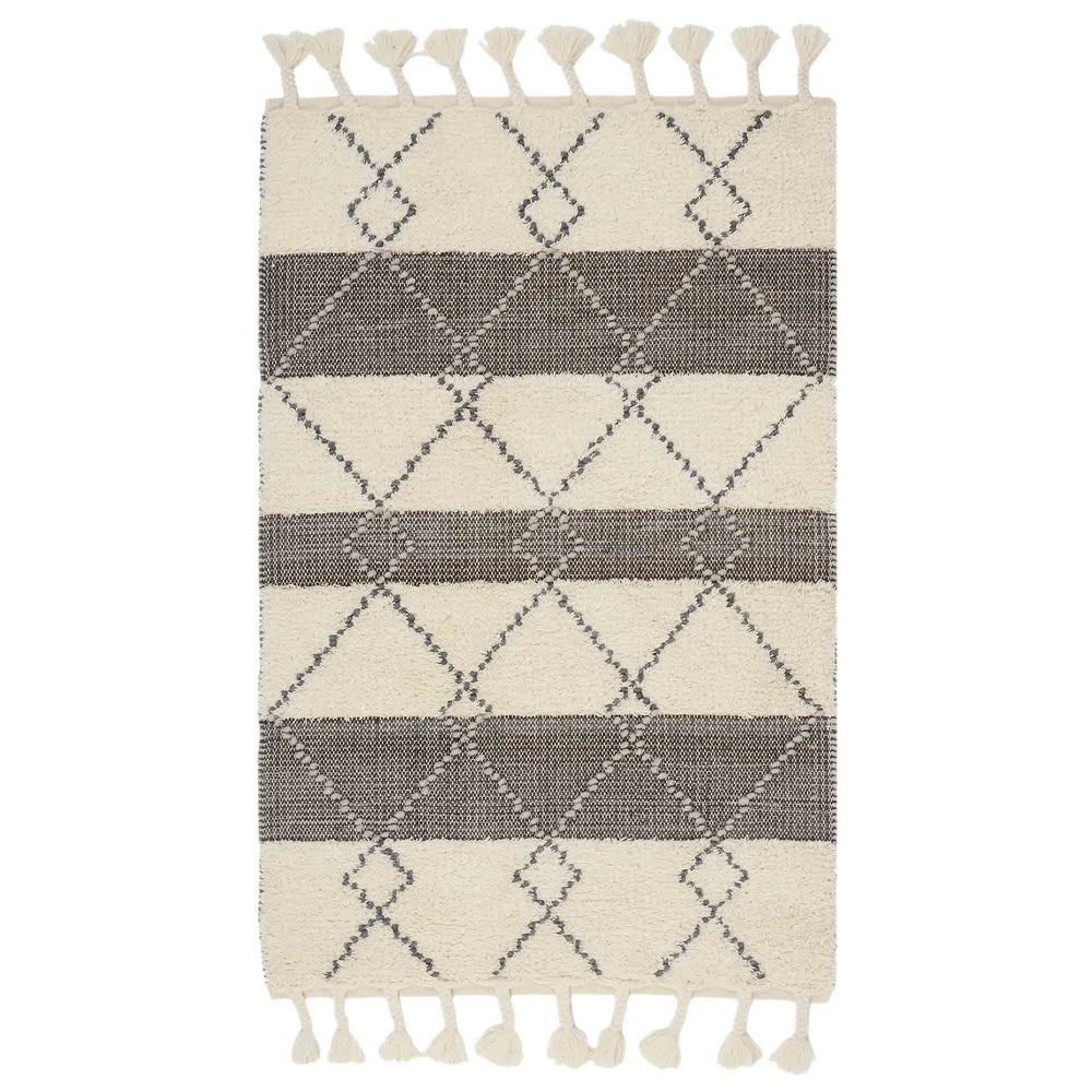 Moroccan Woven Tassel Rug Product Image