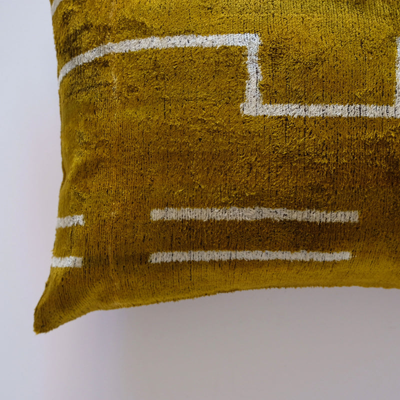 Ova Silk Ikat Lumbar Pillow