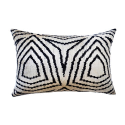 Willow Silk Ikat Lumbar Pillow