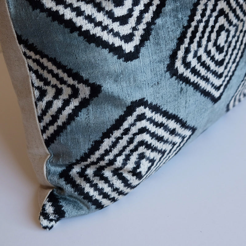 Yuna Silk Ikat Lumbar Pillow
