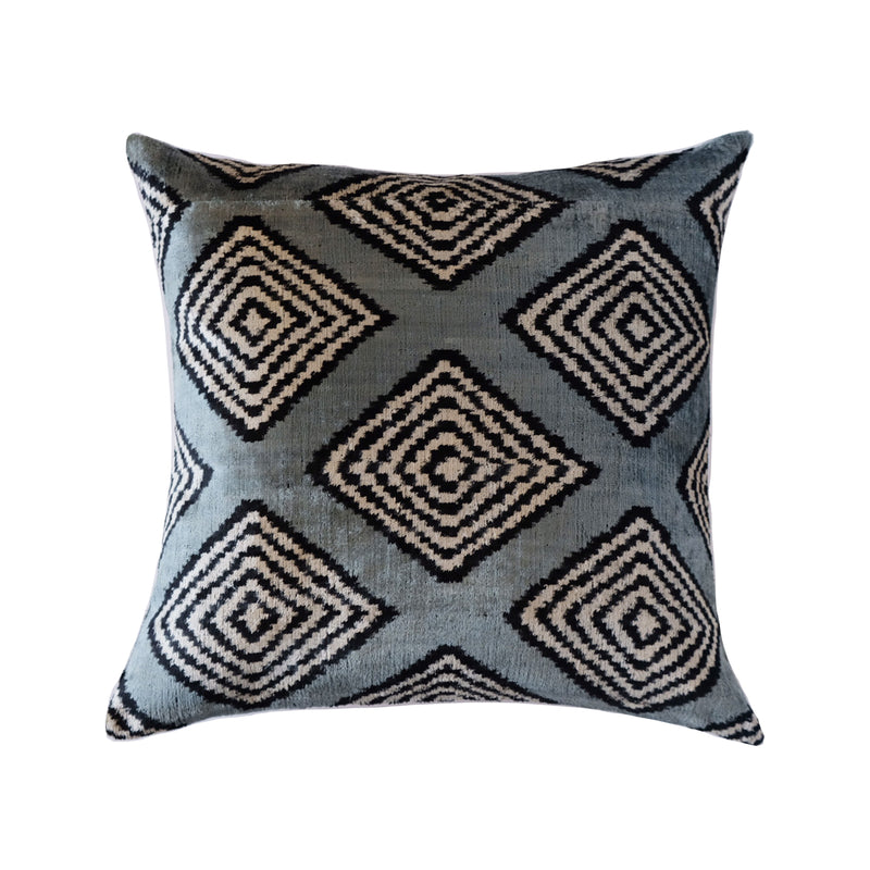Yuna Silk Ikat Pillow