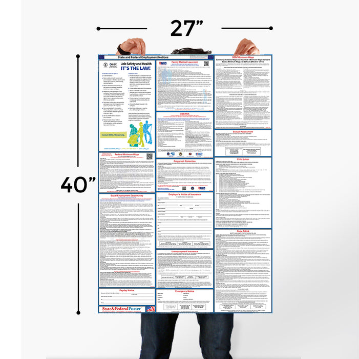Massachusetts State and Federal Labor Law Poster 2020 - State and Federal Poster