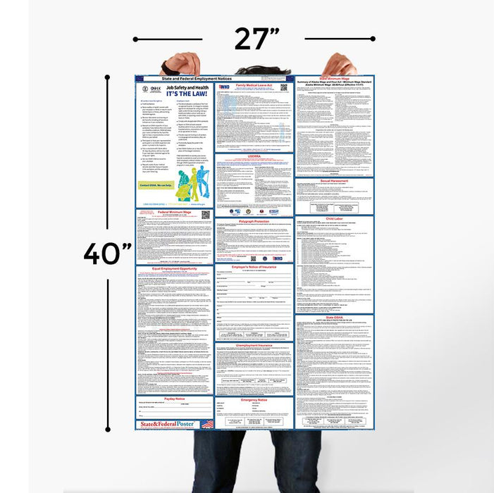 Alaska State and Federal Labor Law Poster 2020 (SPANISH) - State and Federal Poster