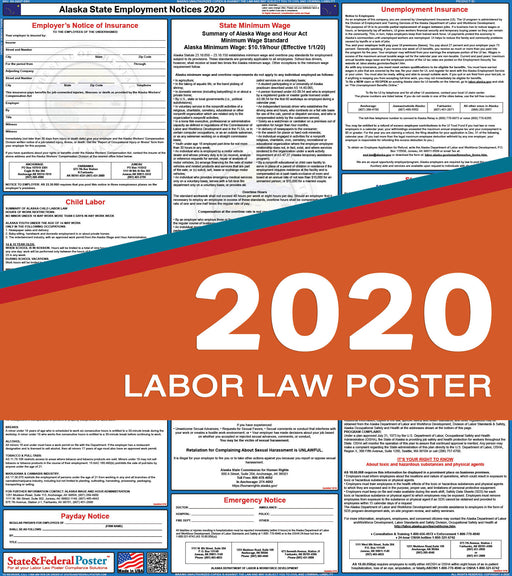 Alaska State Labor Law Poster 2020 - State and Federal Poster