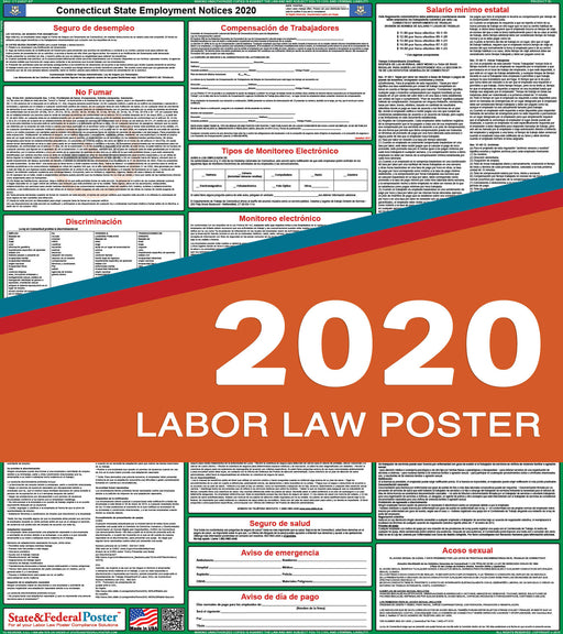 Connecticut State Labor Law Poster 2020 (SPANISH) - State and Federal Poster