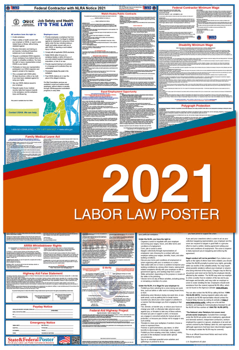 Federal Contractor Labor Law Poster with NLRA 2021