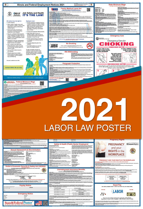Illinois State and Federal Labor Law Poster 2021
