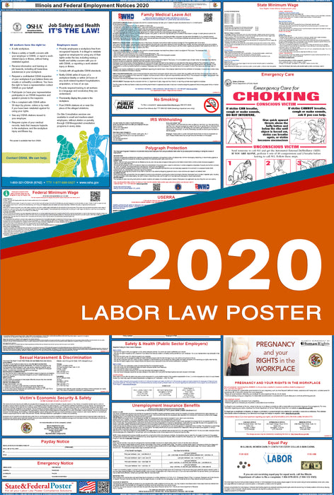 Illinois State and Federal Labor Law Poster 2020 - State and Federal Poster