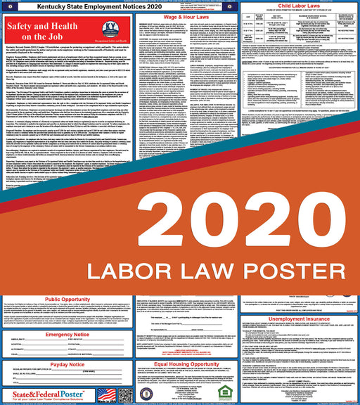Kentucky State Labor Law Poster 2020 - State and Federal Poster