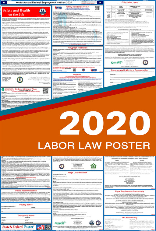 Kentucky State and Federal Labor Law Poster 2020 - State and Federal Poster
