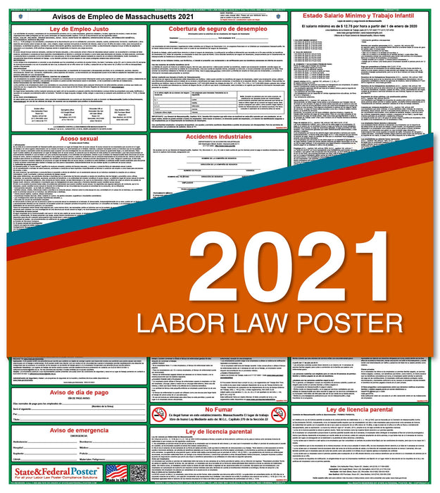 Massachusetts State Labor Law Poster 2021 (Spanish)