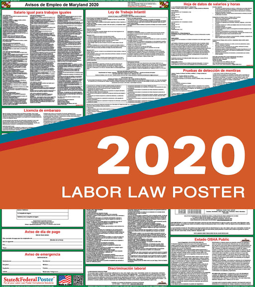 Maryland State Labor Law Poster 2020 (SPANISH) - State and Federal Poster