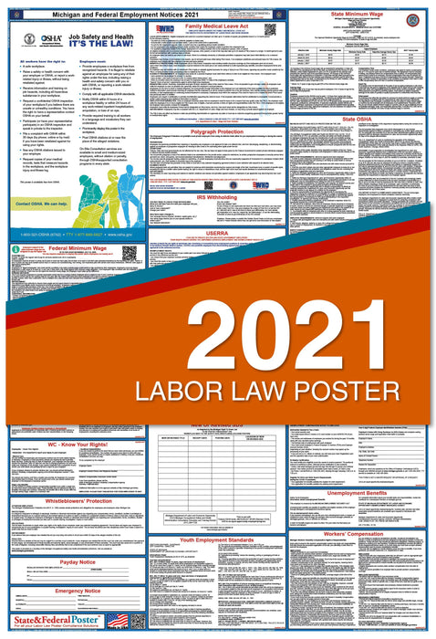 Michigan State and Federal Labor Law Poster 2021