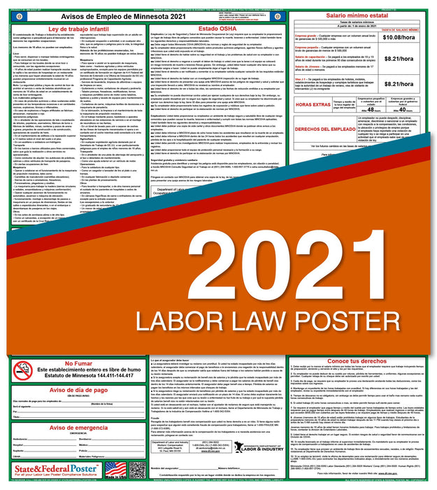 Minnesota State Labor Law Poster 2021 (Spanish)