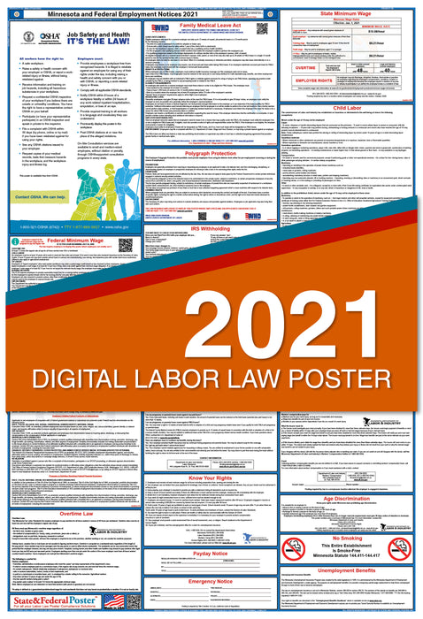PREORDER - Minnesota State and Federal Labor Law Poster 2021