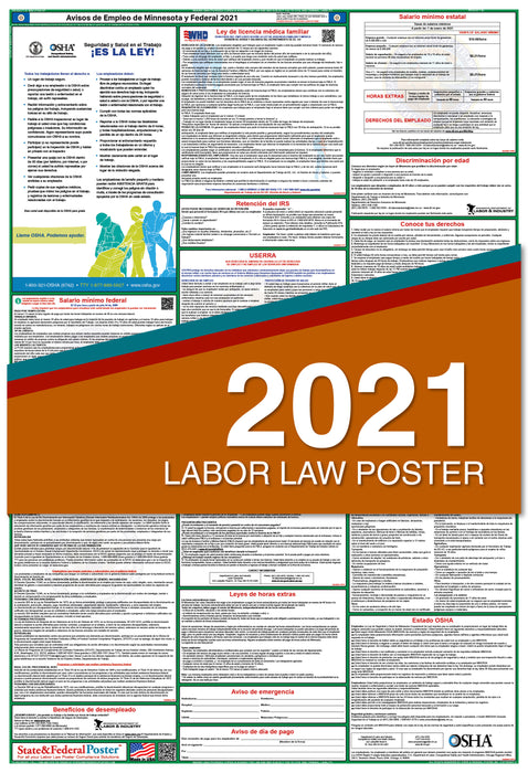 Minnesota State and Federal Labor Law Poster 2021 (SPANISH)