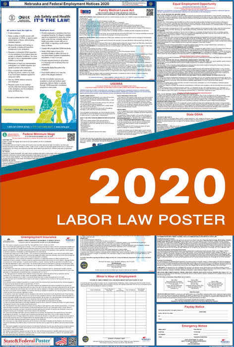 Nebraska State and Federal Labor Law Poster 2020 - State and Federal Poster