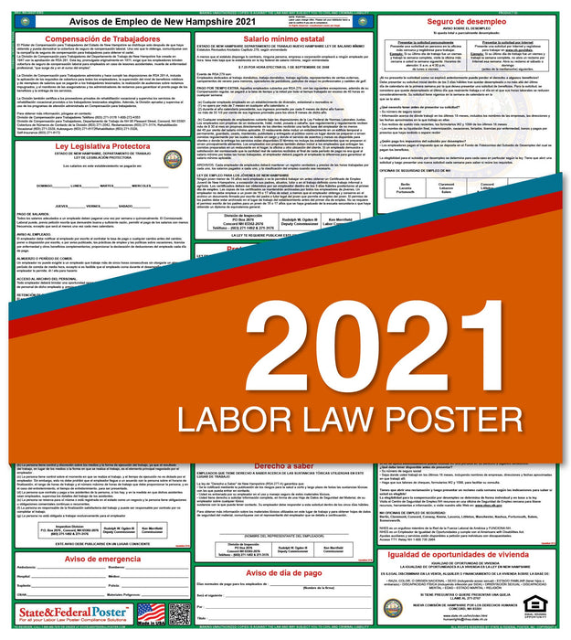 New Hampshire State Labor Law Poster 2021 (Spanish)