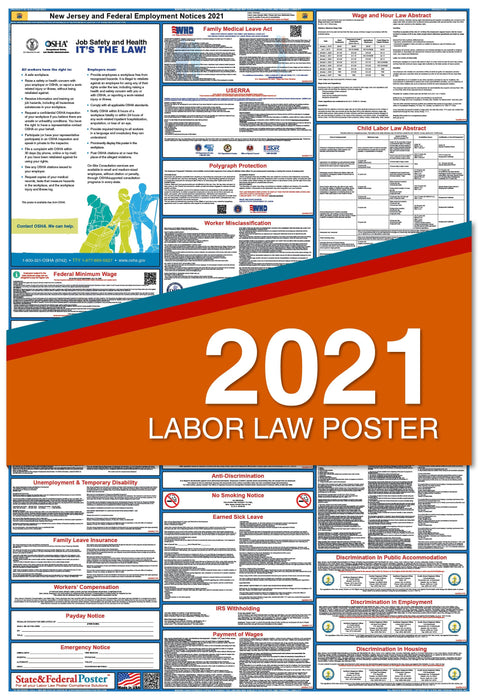 New Jersey State and Federal Labor Law Poster 2021