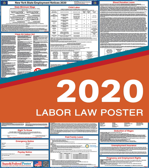 New York State Labor Law Poster 2020 - PREORDER - State and Federal Poster