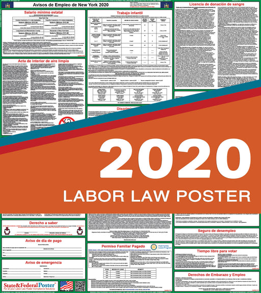 New York State Labor Law Poster 2020 (SPANISH) - PREORDER - State and Federal Poster