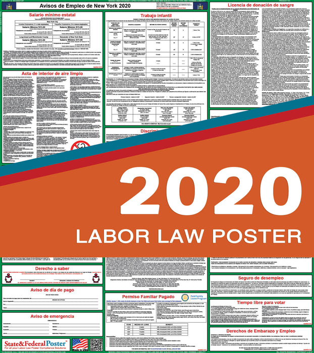 New York State Labor Law Poster 2020 (SPANISH) - State and Federal Poster