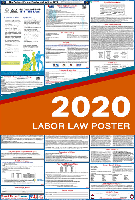 New York State and Federal Labor Law Poster 2020 - State and Federal Poster