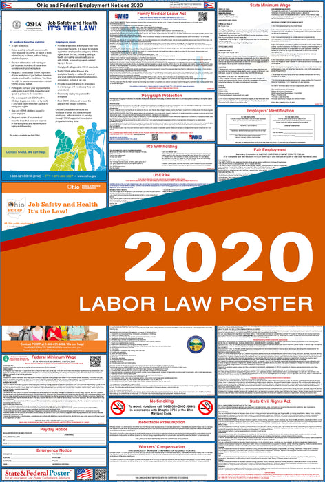 Ohio State and Federal Labor Law Poster 2020 - State and Federal Poster