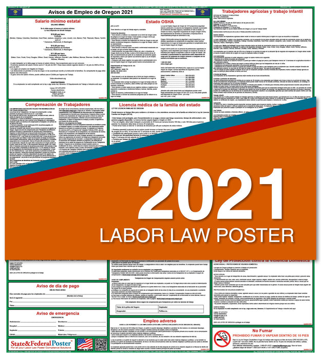 Oregon State Labor Law Poster 2021 (Spanish)