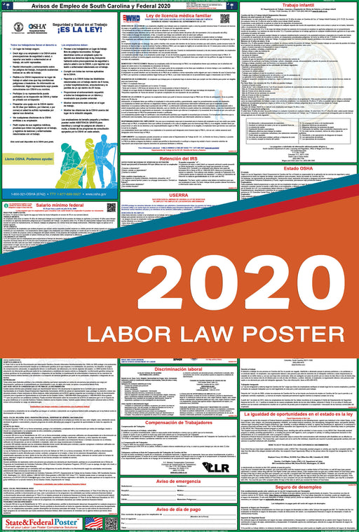 South Carolina State and Federal Labor Law Poster 2020 (SPANISH) - State and Federal Poster