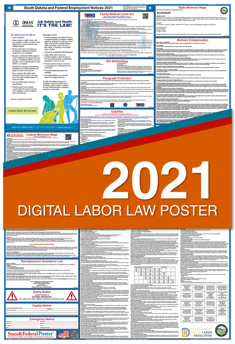 Digital South Dakota State and Federal Labor Law Poster 2021
